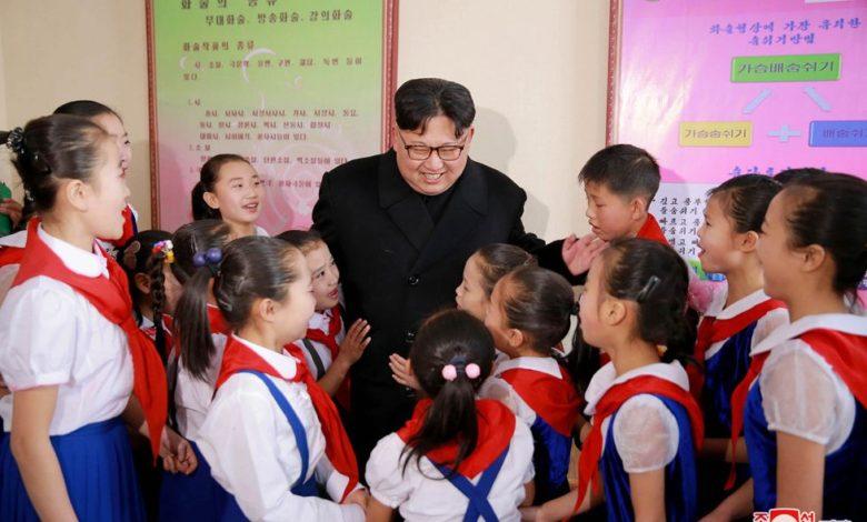 Kim Jong Un at the Samjiyon Schoolchildren's Palace in November 2016