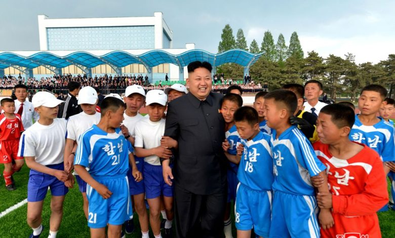 Kim Jong Un among little football players in May 2014